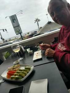 Dad enjoying Chilean sushi