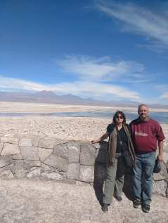 My parents on the salt flat