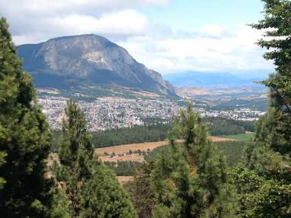 View of Coyhaique from the national reserve