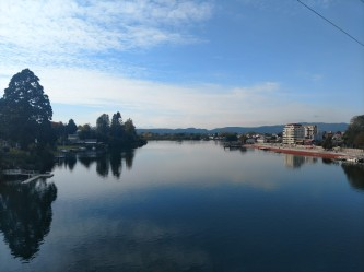 Calm river in Valdivia