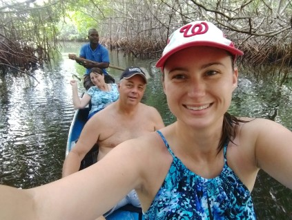 Canoeing in the mangroves