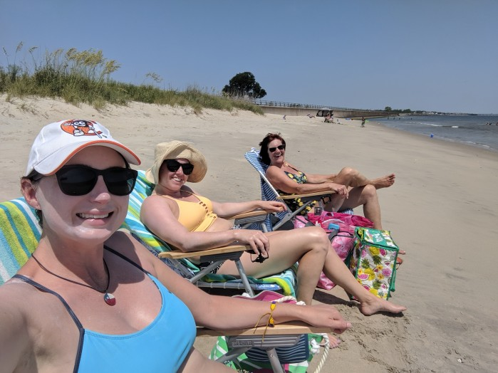 Hanging with friends at VA beach