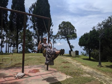 Swinging at a former resort for the Brits to keep cool