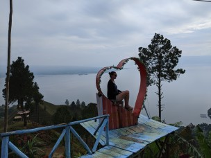 Views of Lake Toba from above