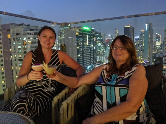 Welcome drink with Mom in Bangkok