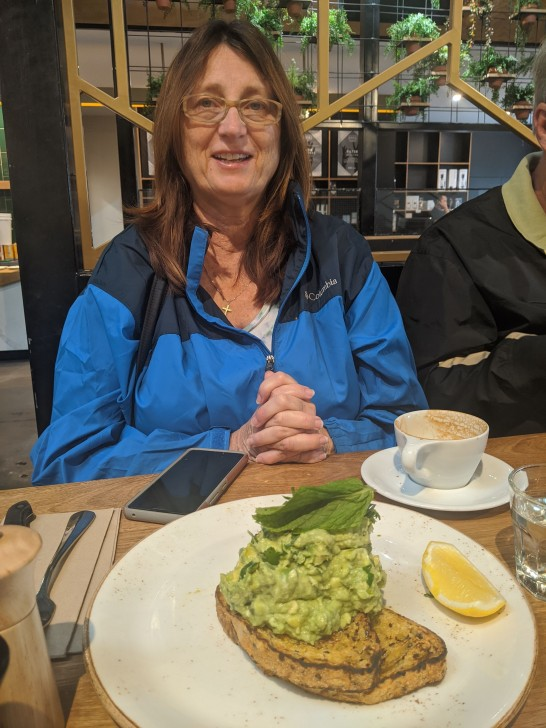 Mom liked the cafe breakfast scene