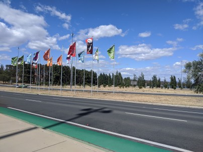 Lots of open space and highways = Canberra