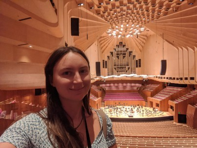 The concert hall inside Sydney Opera House