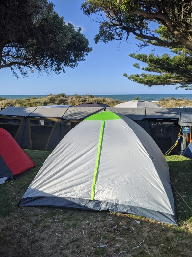 Beachside campsite