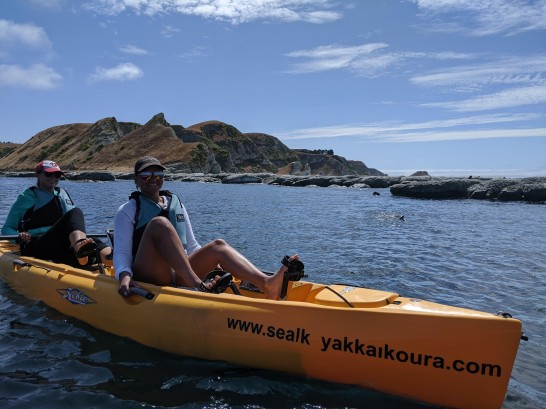 Pedal kayak in Kaikoura
